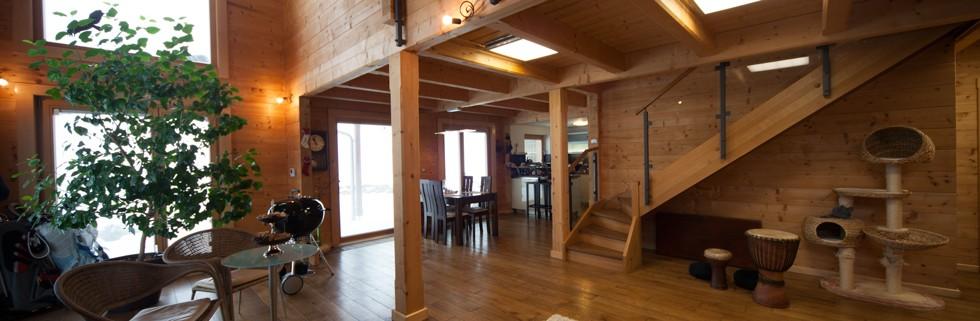 solid timber homes, glue laminated timber beams, wooden homes,