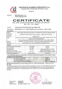 Certificate doors