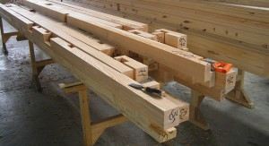 Base frame made from North European larch